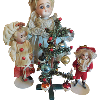 """6 1/2"""" Decorated Christmas Tree for Doll House"""