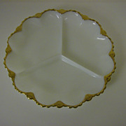 Anchor Hocking Golden Anniversary 3 Part Relish Dish