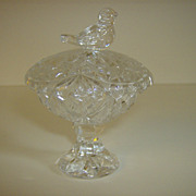 Crystal Salt Cellar ~ Byrdes Collection Pattern by Hofbauer  ~ Germany