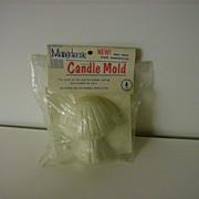 Candle Mold ~ Mushroom ~ 1970's ~ Mangelsen's