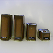 Lincoln Beautyware 4 Piece Canister Set ~ 1950's