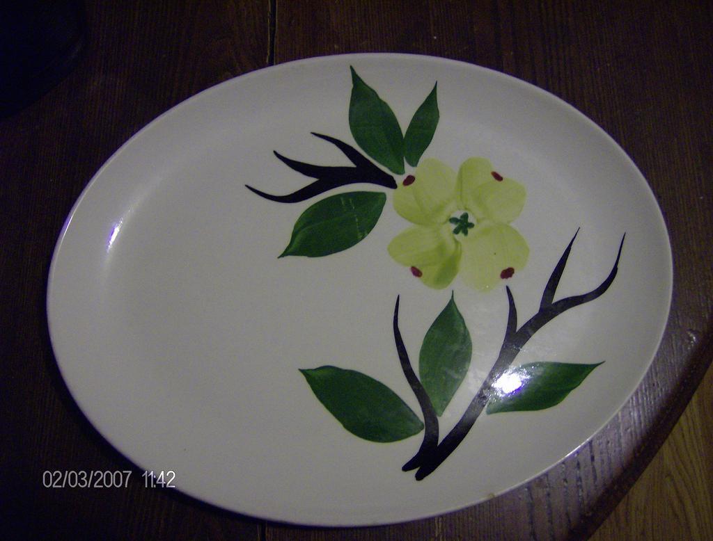 Joni Dixie Dogwood Platter 1950's