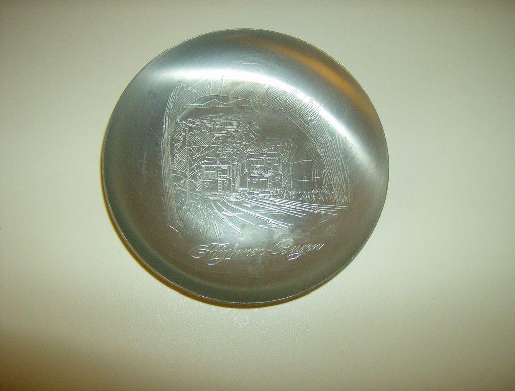 Aluminum Souvenir Tray ~ Floybanen  ~ Norway