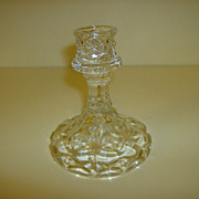 EAPG  Crystal Candlestick Holder