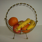 Brass Wire Fruit Basket