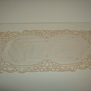Battenburg Lace Dresser Scarf