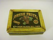 Vintage Tin ~ Fresh Fruit ~ Bloom Hill Farm
