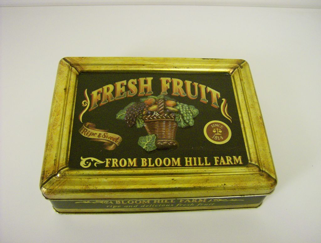 Vintage Tin ~ Fresh Fruit ~ Bloom Hill Farm