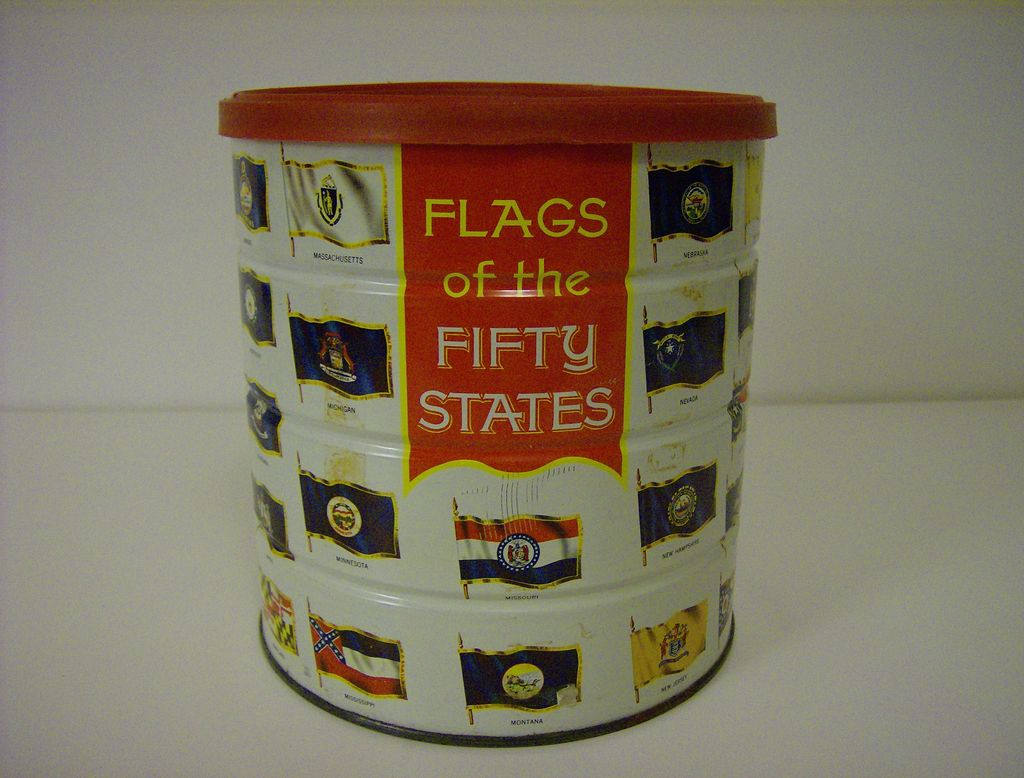 Collectible Tin ~ Hills Brothers Coffee ~ 1970
