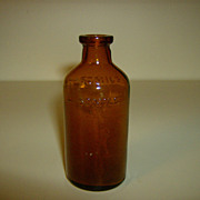 Brown Glass Medicine Bottle ~ Franklin Products