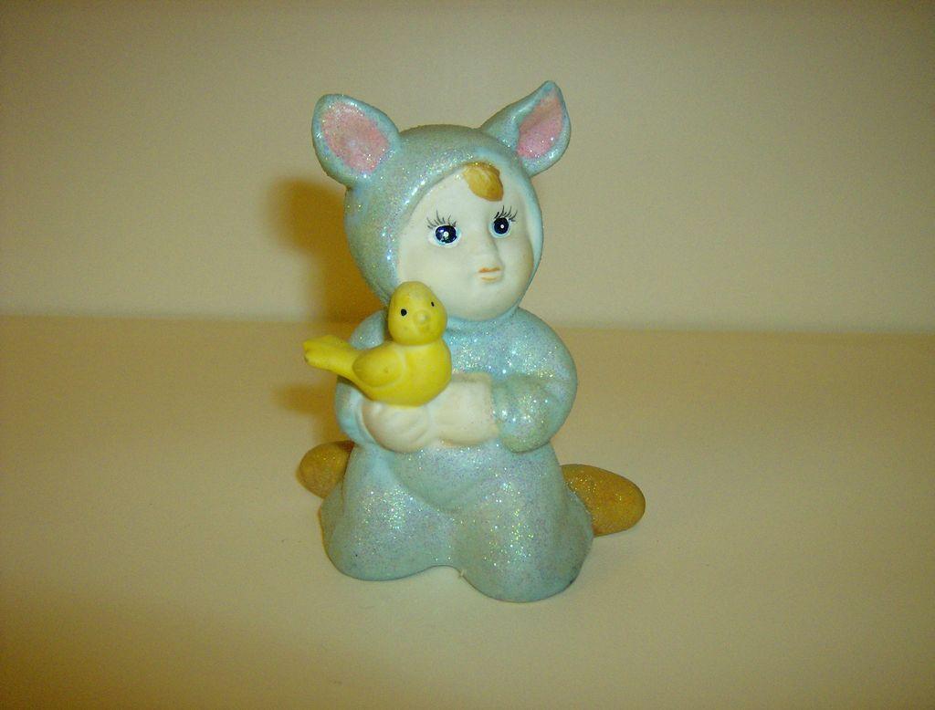 Porcelain Bunny Baby Figurine