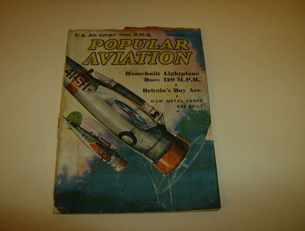 Popular Aviation ~ Magazine ~ September 1937
