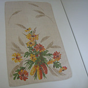 Vintage Irish Linen Tea Towel
