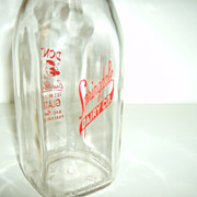 Springdale Dairy Co. ~ Glass Milk Bottle ~ 1 Pint