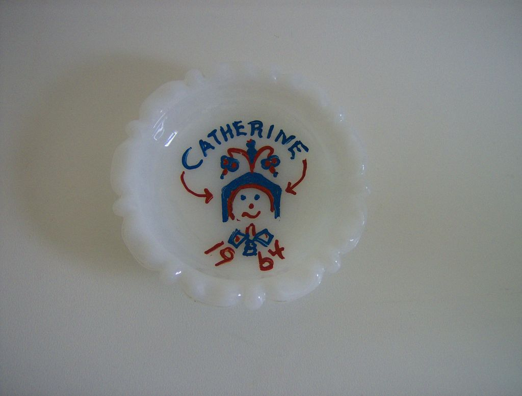 Anchor Hocking Milk Glass Ashtray ~ 1950's