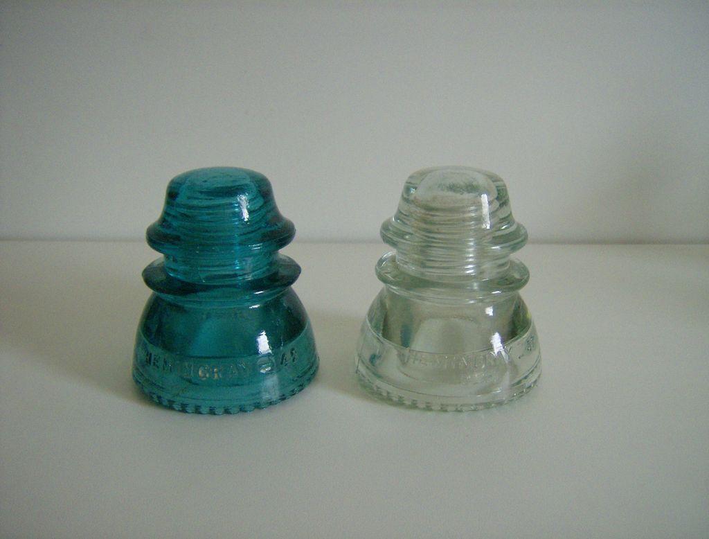 Hemingray 42 Insulators ~ Green ~ Clear