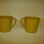 Genuine Melamine ~ Coffee Cups ~ 1950's