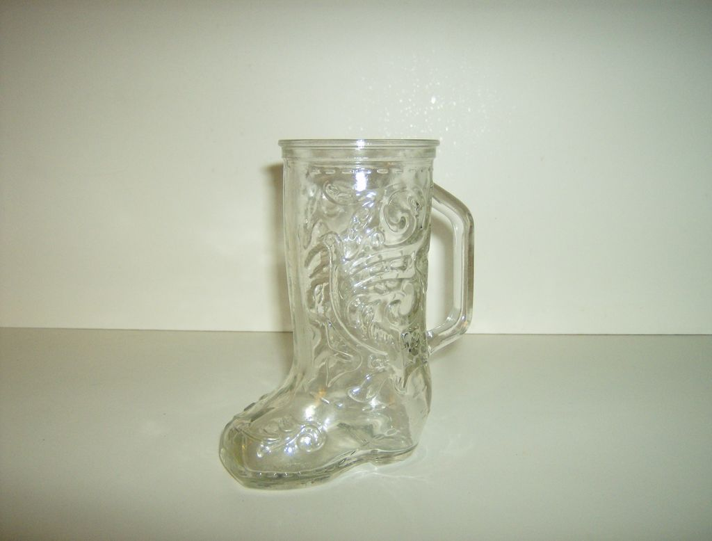 Anchor Hocking ~ Pressed Glass ~ Boot Mug