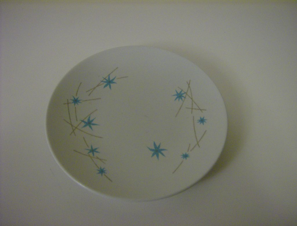 Melmac ~ Dessert Plate ~ Blue Flowers ~ 1950's