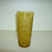 Amber Glass Tumbler ~ Brockway Glass Co.  ~ American Concord