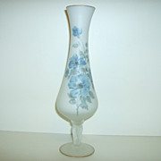 Hand Painted ~ Norleans ~ Satin Glass Vase