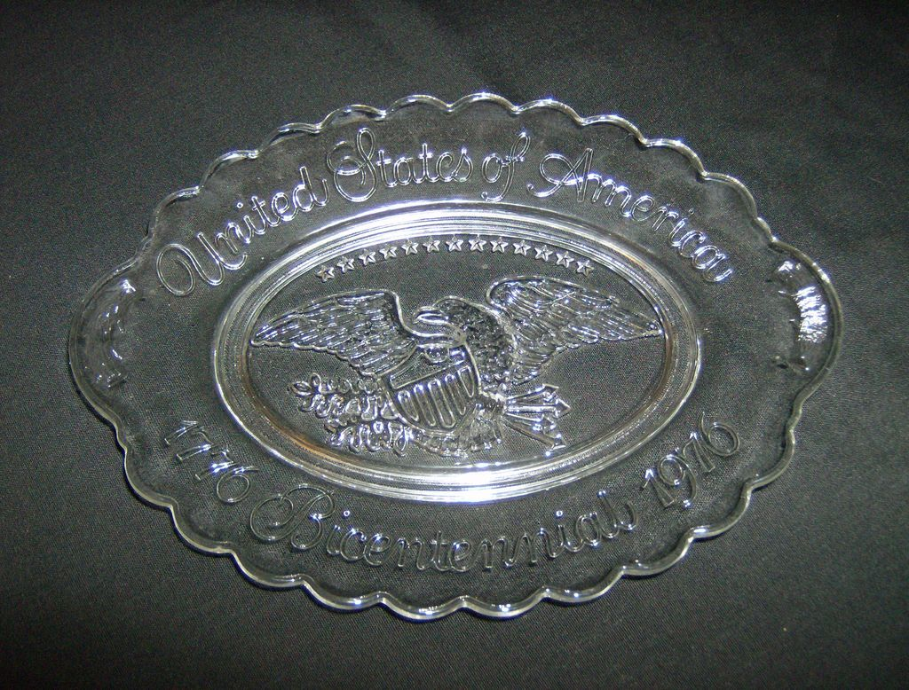 Avon Bicentennial Clear Glass Plate