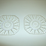 Federal Glass Company   Bread & Butter Plates   Columbia Pattern