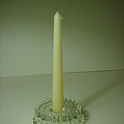 Crystal Candlestick Holder   Peltier Glass Co.