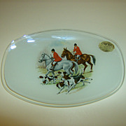 Chance Glass Plate with Hunting Scene England