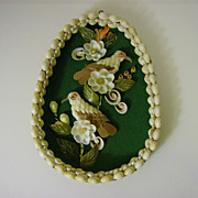 Shell Art Wall Hanging Birds & Flowers