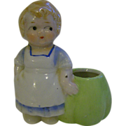 Girl Porcelain Toothpick Holder