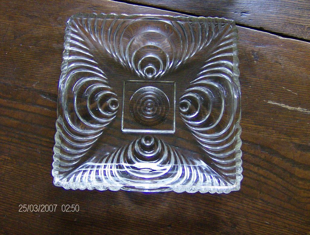 Hazel Atlas Candy Dish ~ Soundwave Pattern ~ Circa 1930's