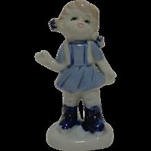 Blue and White Porcelain Girl 1960's