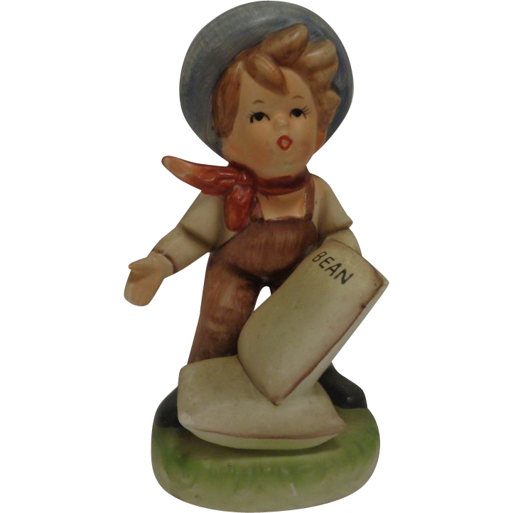 Boy with Beans Figurine - Hummel Like