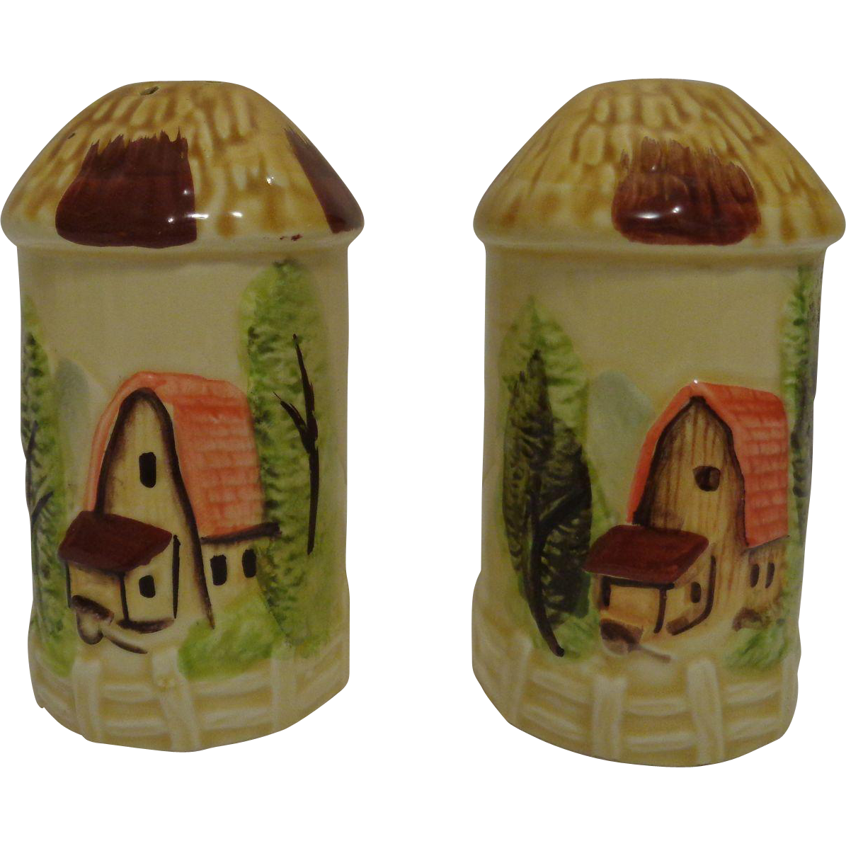 Marks and Rosenfeld Farm Scene Salt and Pepper Shakers