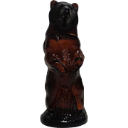 Avon Bottle Brown Glass Kodiak Bear 1960's