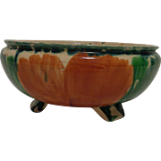 Mexican Oaxaca Drip Ware 3 Footed Bowl