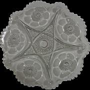 McKee Pres Cut Glass Platter 1906 Sextec Pattern