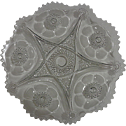 McKee Pres Cut Glass Platter 1906 Sextec Pattern