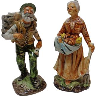 Porcelain Figurine Old Man and Woman