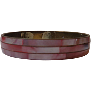 Bangle Bracelet Copper & Pink Mother of Pearl