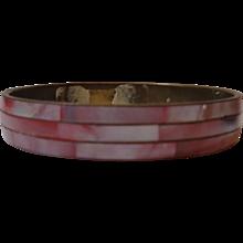 Bangle Bracelet Copper & Pink Mother of Pearl