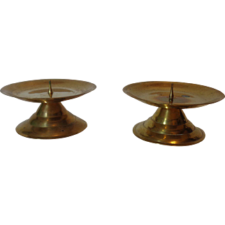 Brass Candle Holders Set of 2