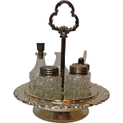 Silver Plate Cruet Set by Hugo