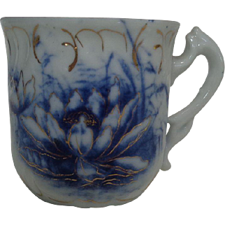 Flow Blue Demitasse Cup Water Lily