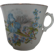 Bone China Tea Cup Iris and Forget Me Knots