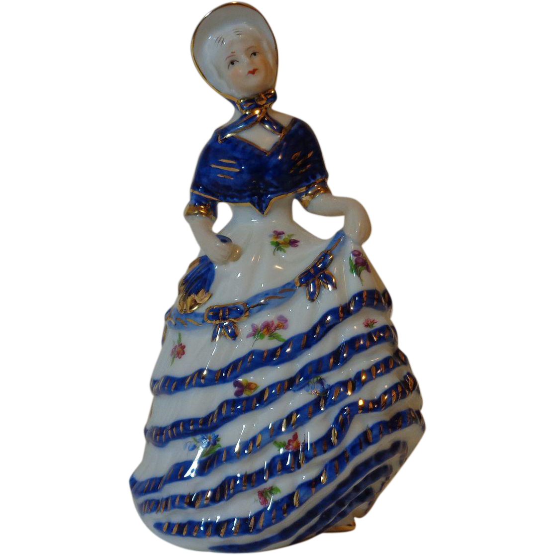 KPM Porcelain Victorian Woman Figurine