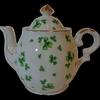 Lefton China Musical Teapot Shamrock