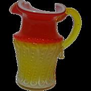 Amberina Kanawha Cased Glass Creamer