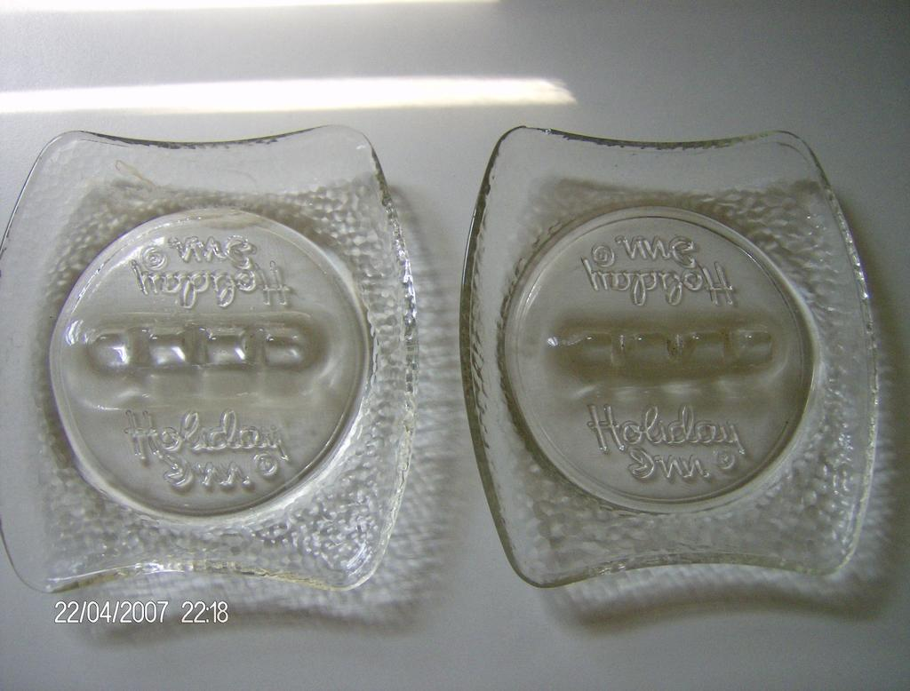 "Vintage ""Holiday Inn"" Hotel Ashtrays ~ Set of 2"